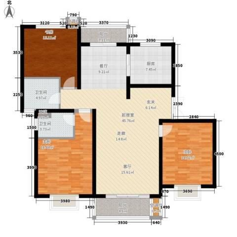 桃浦二村3室0厅2卫1厨163.00㎡户型图