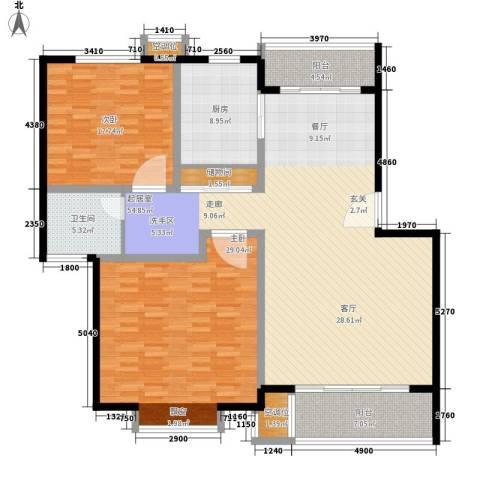桃浦二村2室0厅1卫1厨185.00㎡户型图