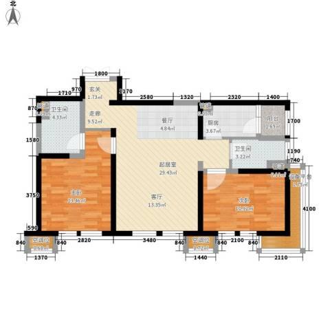 中粮大道2室0厅2卫1厨110.00㎡户型图