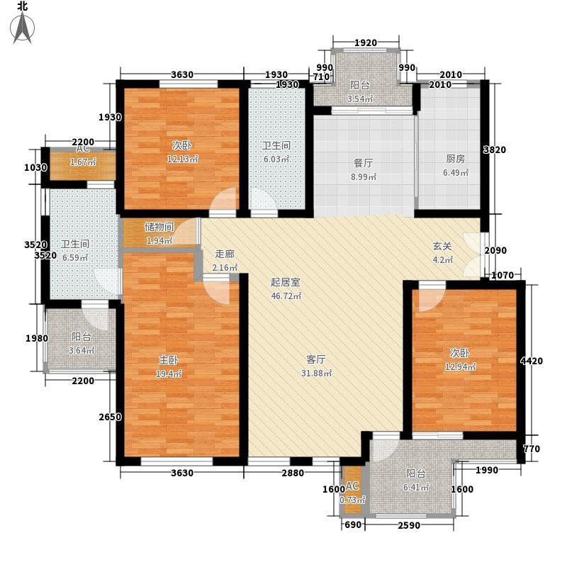 万科白马花园146.95㎡万科白马花园户型图3室2厅2卫1厨户型10室
