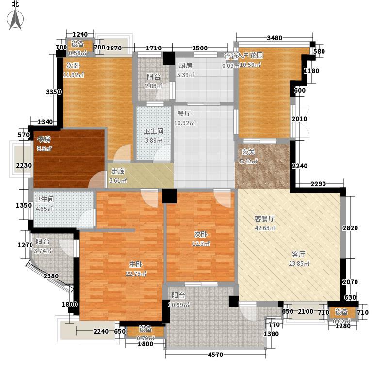 世欧彼岸城世欧彼岸城户型图K2户型4室2厅2卫1厨户型4室2厅2卫1厨