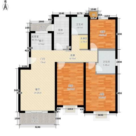 新水桥公寓3室0厅2卫1厨120.00㎡户型图