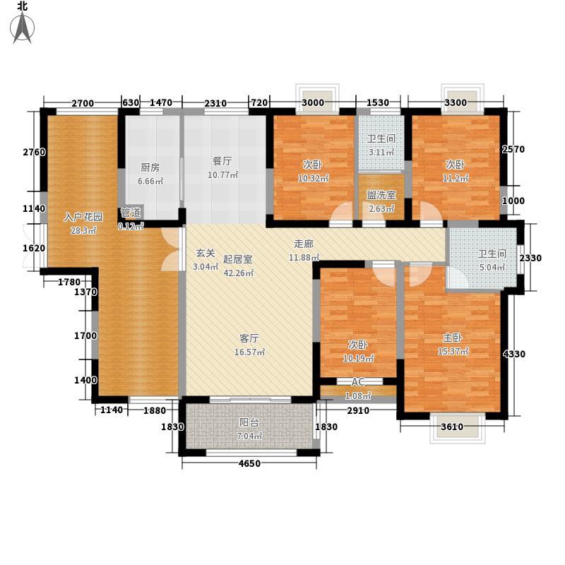 江南春城172.00㎡江南春城户型图B二期4室2厅2卫1厨户型4室2厅2卫1厨