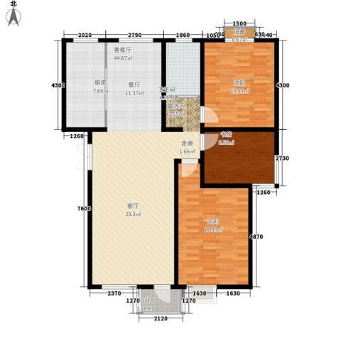 绿地英湖印象3室1厅1卫1厨110.00㎡户型图