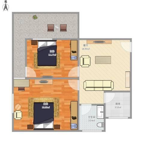 金海里11号1012室1厅1卫1厨89.00㎡户型图