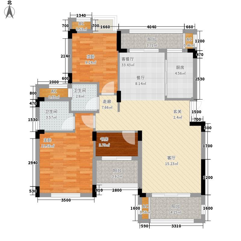 奥园水云间A4-A7户型3室2厅