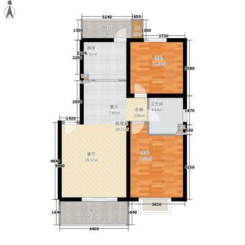 新水桥公寓2室0厅1卫1厨87.00㎡户型图