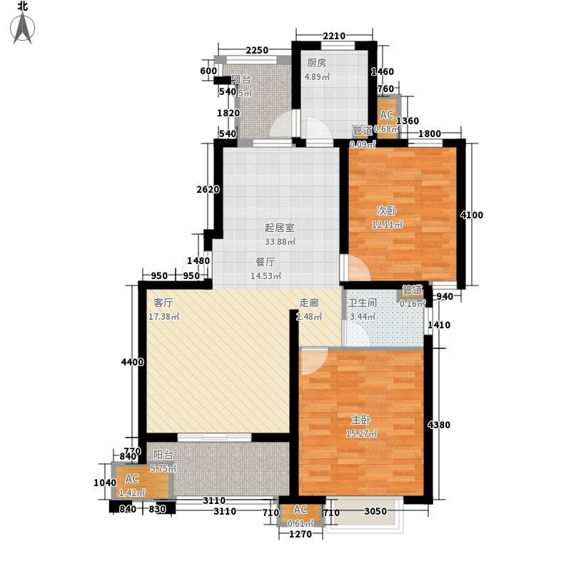 富顿街区94.00㎡富顿街区户型图14号F户型2室2厅1卫户型2室2厅1卫