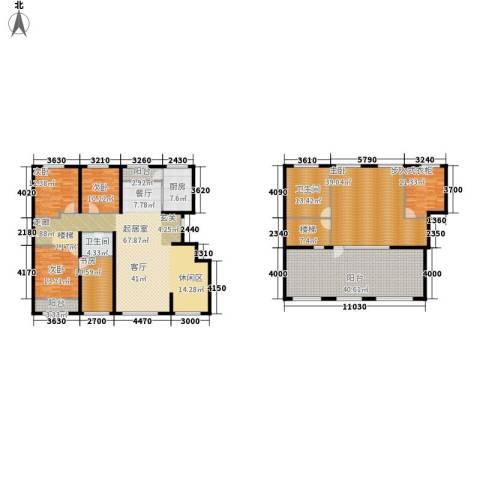 都市左岸5室0厅2卫1厨337.00㎡户型图