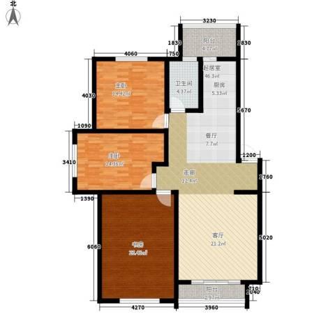 格林生活坊3室0厅1卫0厨125.00㎡户型图