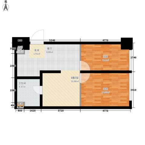香榭里街区2室0厅1卫0厨67.00㎡户型图
