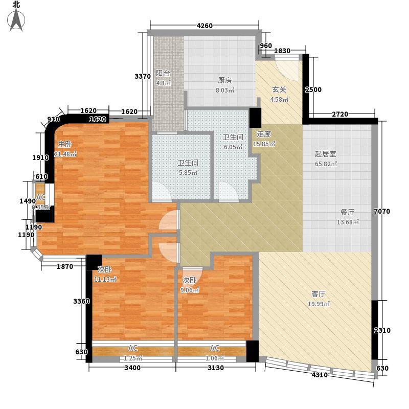 世纪银座世纪银座3室2厅户型3室2厅