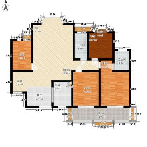 福乐名园4室0厅2卫1厨197.00㎡户型图