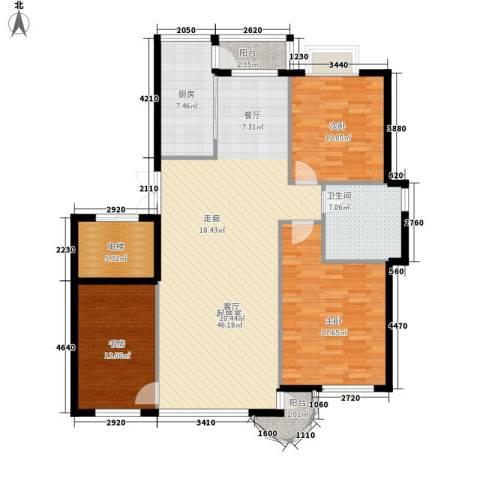 兴昌都市首府3室0厅1卫1厨121.00㎡户型图