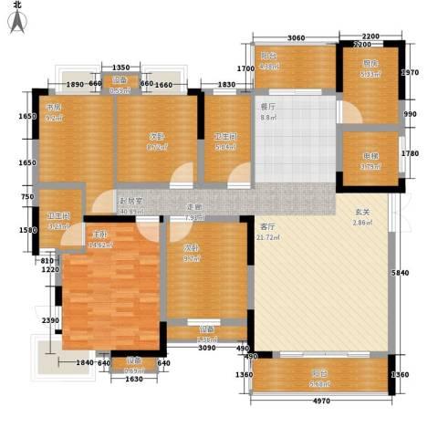 联泰香域尚城4室0厅2卫1厨140.00㎡户型图