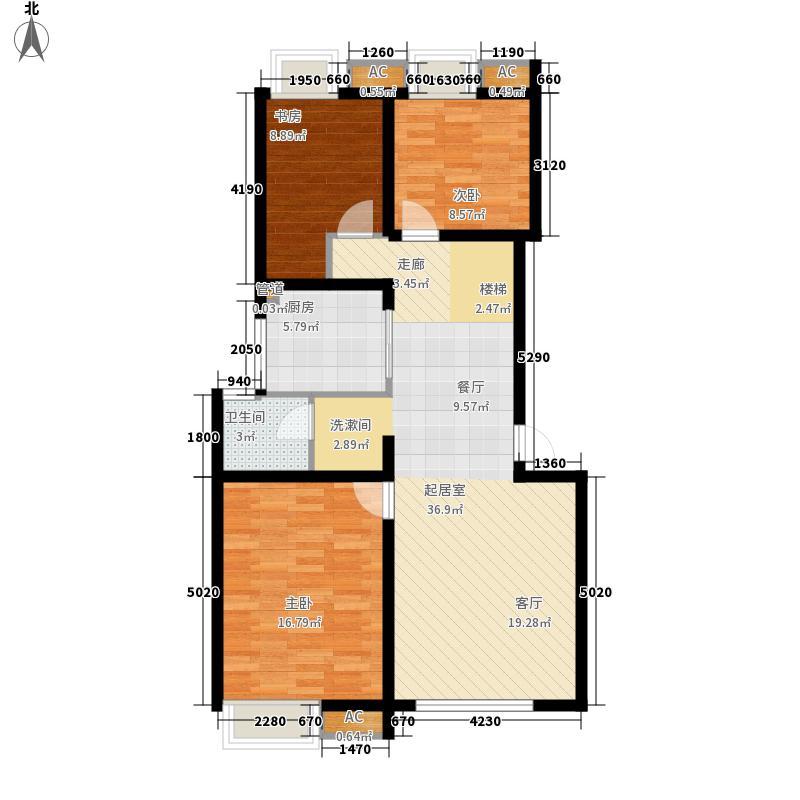 万科白马花园93.00㎡上海南都白马花园B-1a型户型3室2厅1卫