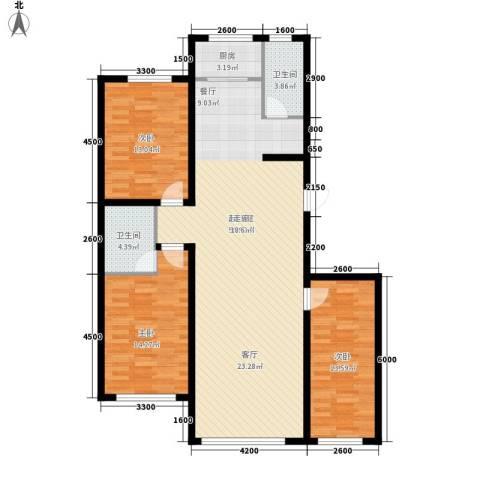 御景名家3室0厅2卫1厨135.00㎡户型图