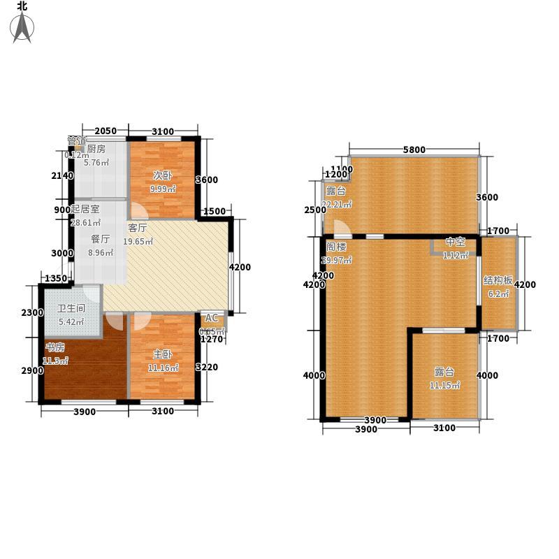 绿色家园147.08㎡绿色家园户型图M户型4室2厅1卫1厨户型4室2厅1卫1厨