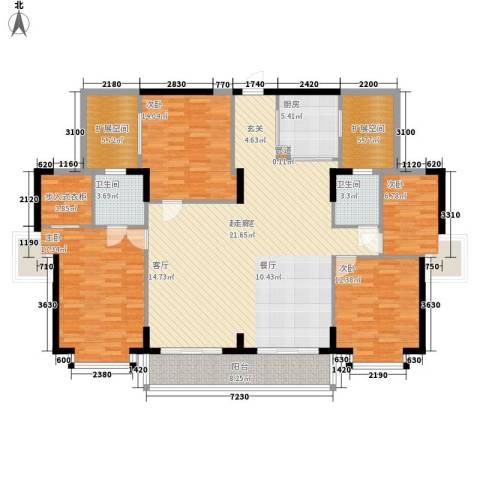建鸿达华都4室0厅2卫1厨198.00㎡户型图