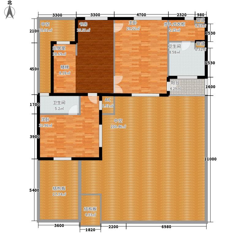 绿色家园85.00㎡户型2室2厅1卫1厨