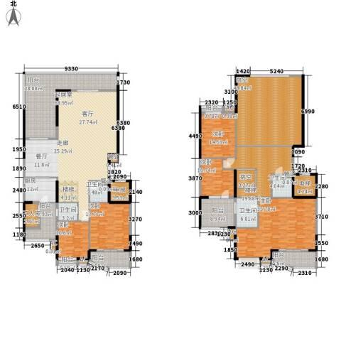 建鸿达华都5室0厅4卫1厨355.00㎡户型图