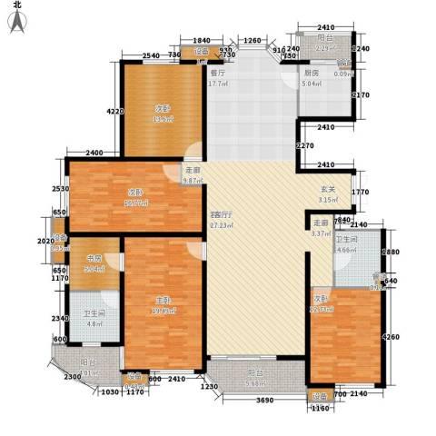 自在香山5室1厅2卫1厨220.00㎡户型图