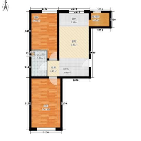 华南司法小区2室1厅1卫0厨73.00㎡户型图