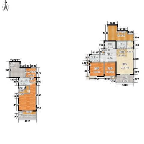 复地城就3室0厅3卫1厨180.57㎡户型图