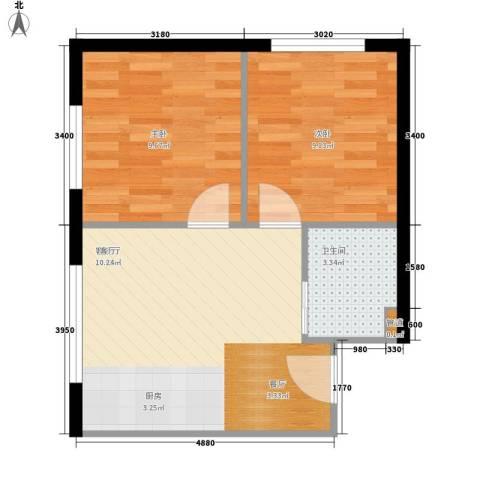 福顺江山2室1厅1卫0厨54.00㎡户型图
