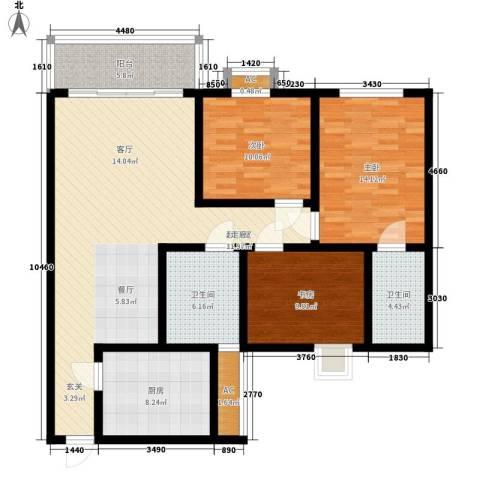 和庄3室0厅2卫1厨112.00㎡户型图