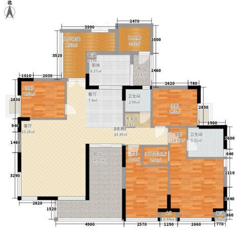 申奥美域4室0厅2卫1厨160.00㎡户型图