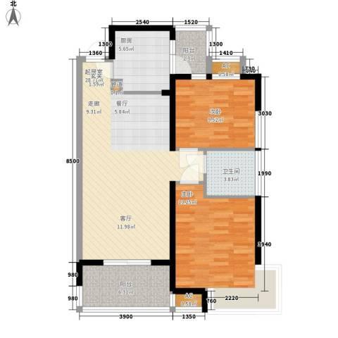 中天瑞景城2室0厅1卫1厨102.00㎡户型图