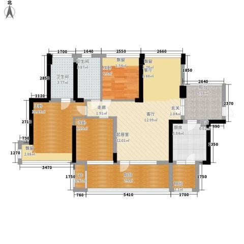 潜龙曼海宁二期3室0厅2卫1厨88.00㎡户型图