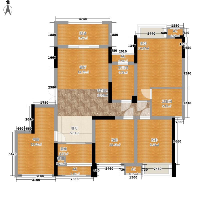 中国西部文化城常青藤社区117.30㎡一期17、18栋花园洋房标准层O户型3室2厅2卫1厨