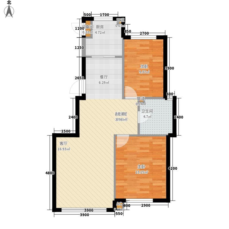 绿色家园81.61㎡B户型2室2厅1卫