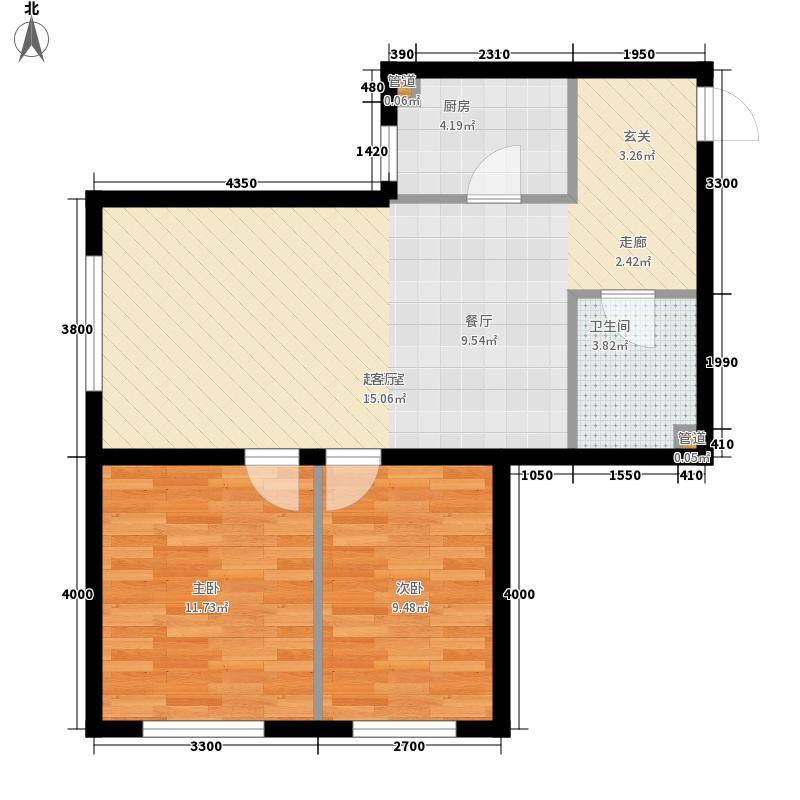 明城新北市65.80㎡明城新北市户型图A5户型2室2厅1卫户型2室2厅1卫