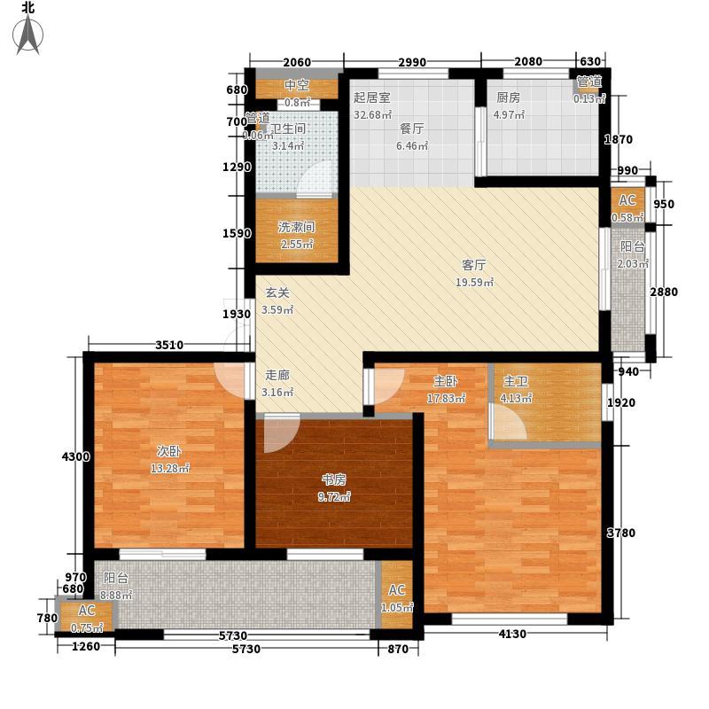 佳源・公园一号11.00㎡WG3户型3室2厅2卫1厨