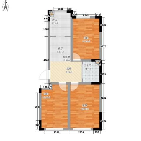 嘉元十方界3室0厅1卫0厨86.00㎡户型图