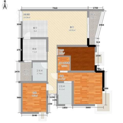 逸静丰豪3室0厅2卫1厨133.00㎡户型图