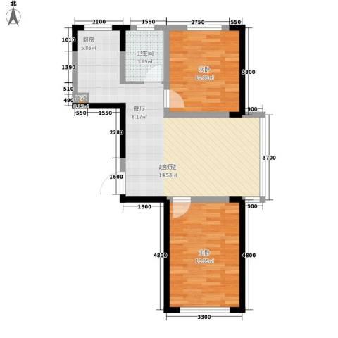 嘉元十方界2室0厅1卫0厨84.00㎡户型图