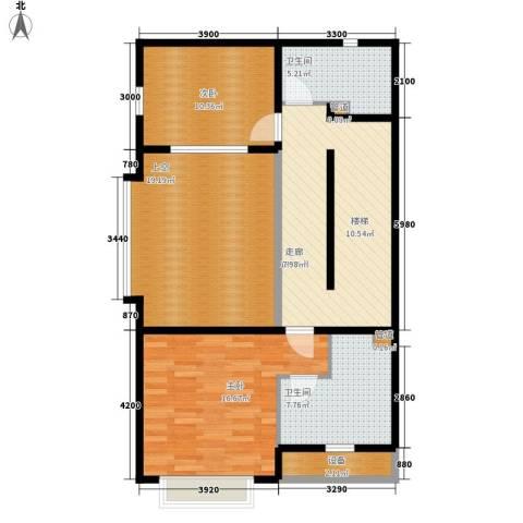 自在香山2室0厅2卫0厨112.00㎡户型图