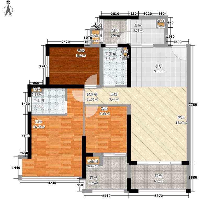 中德英伦联邦86.00㎡6号楼2-29层G1户型3室2厅2卫1厨