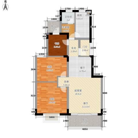 星城书香苑3室0厅1卫1厨104.00㎡户型图