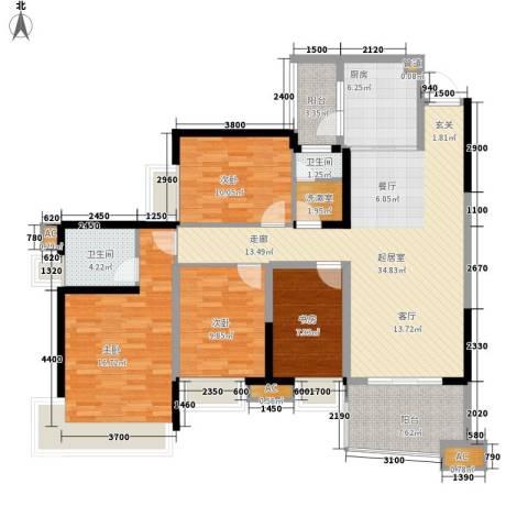 雅居乐国际花园雅郡4室0厅2卫1厨113.00㎡户型图