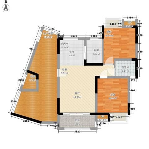 复地城就2室0厅1卫1厨84.66㎡户型图