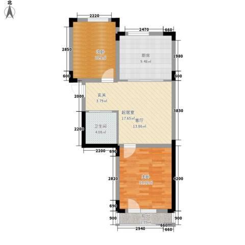 轩泽硅谷壹号2室0厅1卫1厨78.00㎡户型图