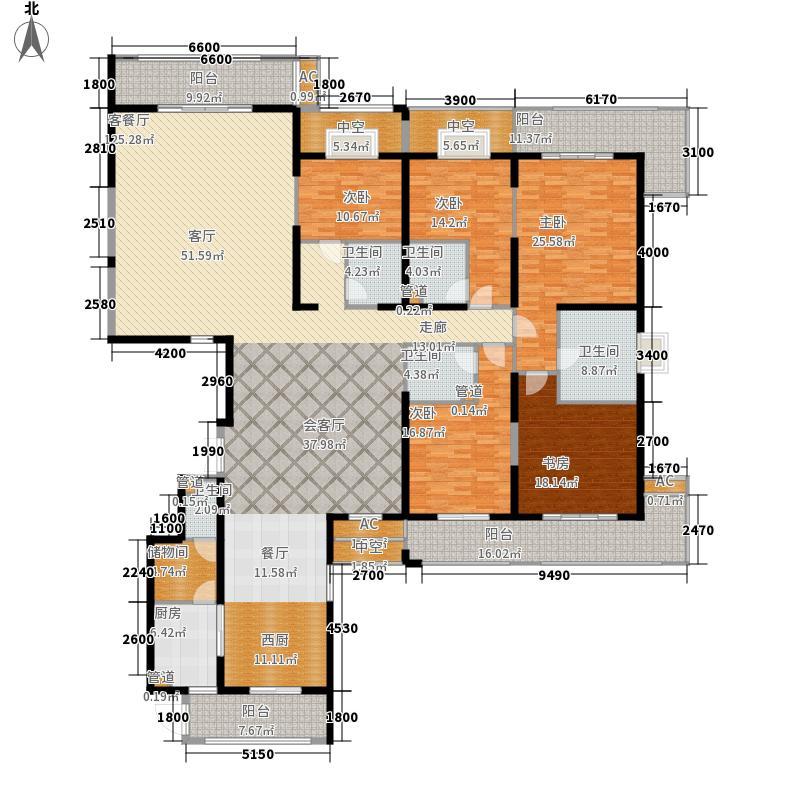 世茂湖滨首府347.16㎡(C地块)C-1#住宅楼29层02单元户型