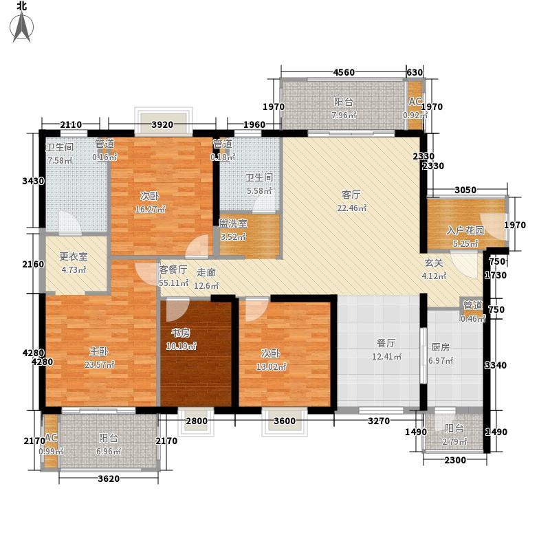 世茂湖滨首府183.00㎡D1-1号楼01户型4室2厅