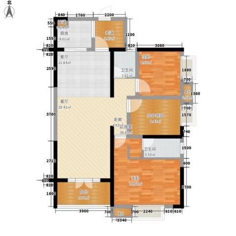 黄州宇济一号2室0厅2卫1厨121.00㎡户型图