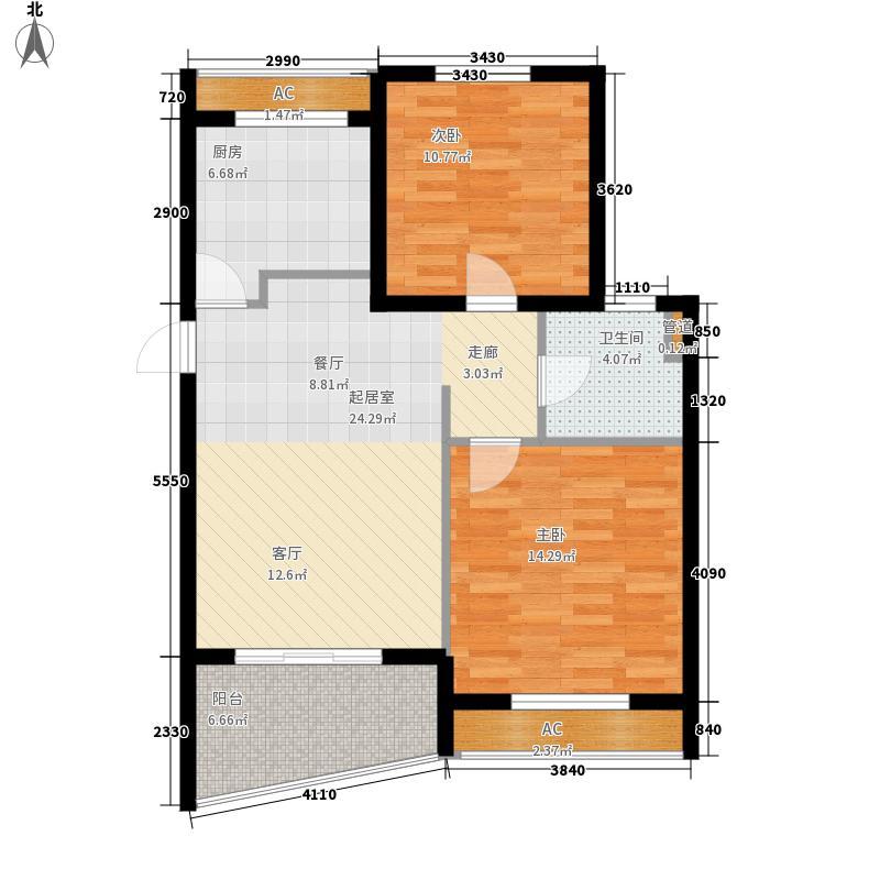 金铭文博水景79.99㎡金铭文博水景户型图3-6号楼C2户型图2室2厅1卫1厨户型2室2厅1卫1厨